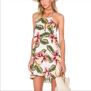 Show Me Your Mumu Katy Halter Dress Aloha Print